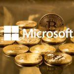 Bitcoin with Microsoft logo