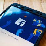 Facebook header on smartphone