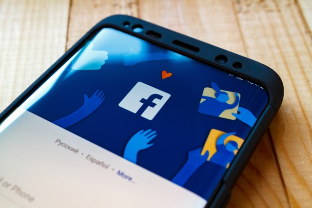 Facebook header on smartphone