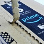 Ripping open an Amazon Prime box