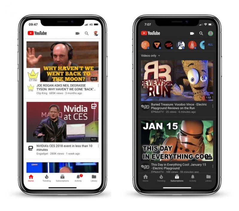 YouTube For iOS Appears To Be Testing A Dark Theme As Well