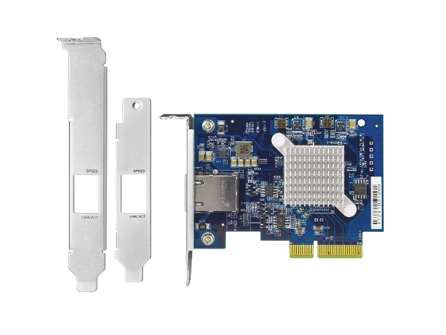 QNAP launches QXG-10G1T 10GBASE-T PCIe NIC for NAS, Windows, and Linux