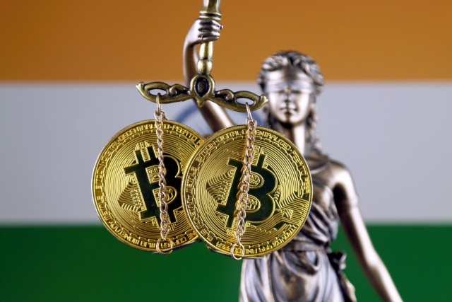 Indian flag and Bitcoin