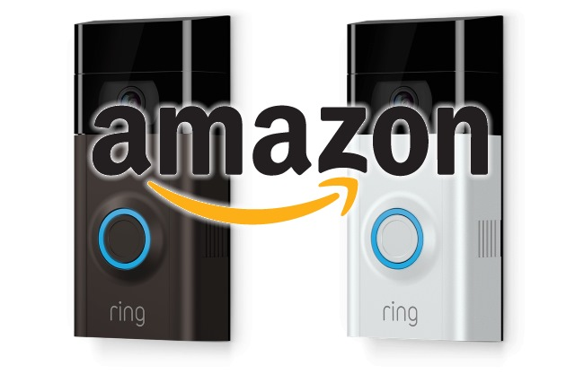 Ring camera with an Amazon logo