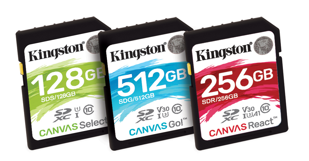 photo image Kingston unveils 'Canvas' SD and microSD cards