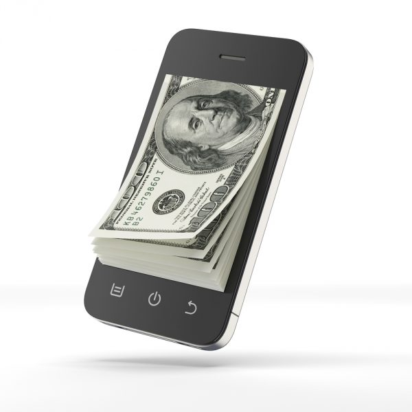Dollars and smartphone