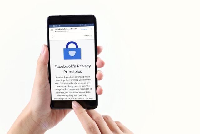 Facebook's Privacy Principles page on mobile