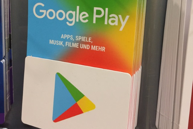 European Google Play gift card