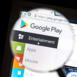 Google Play Store magnifying glass