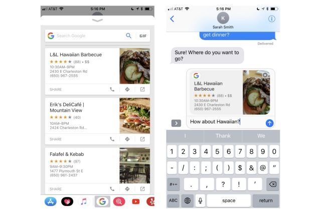 You can now use Google Search on iMessage