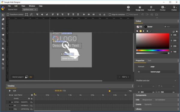Google Web Designer 3 0 Makes Html 5 Web Content Easy To Build Across Multiple Devices And Platforms Betanews