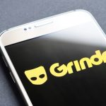 Grindr on smartphone
