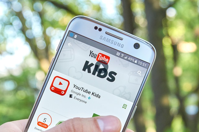 YouTube Kids app on smartphone