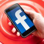 Facebook logo on iPhone