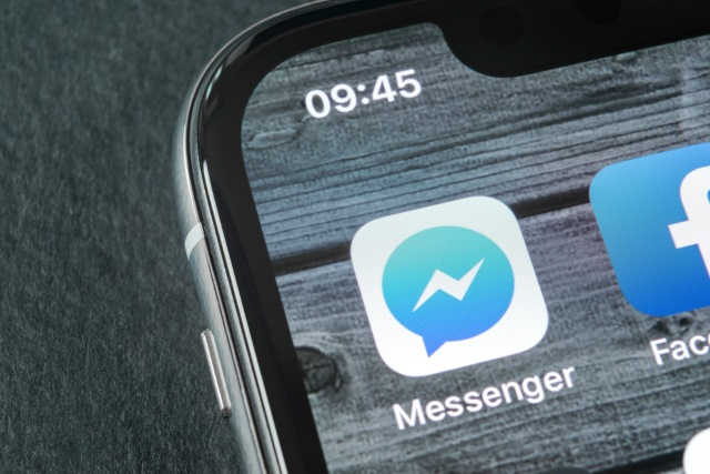 Facebook Messenger icon on iPhone X
