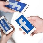 Facebook on three smartphones