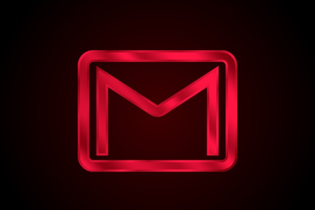 Glowing Gmail icon