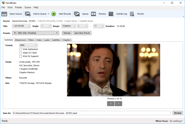 Handbrake 1 1 0 revamps user interface, adds Vimeo, YouTube and 4K