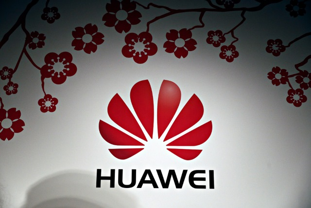 Huawei logo with blossom