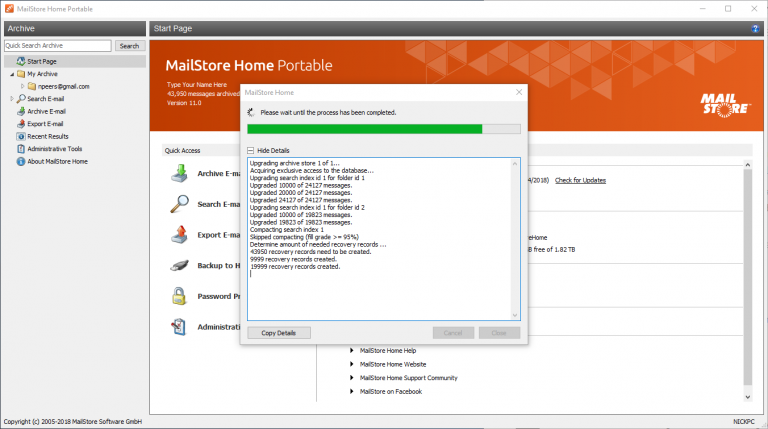 Mailstore Home 11 offers more robust protection for your email