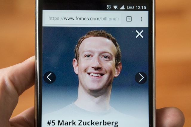 Mark Zuckerberg on Forbes website
