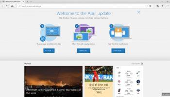 Windows 10 April Update in Microsoft Edge