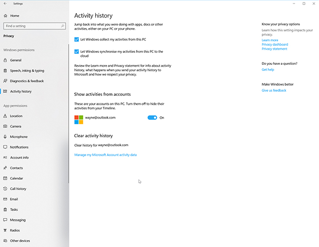 how to use windows 10 s new timeline feature