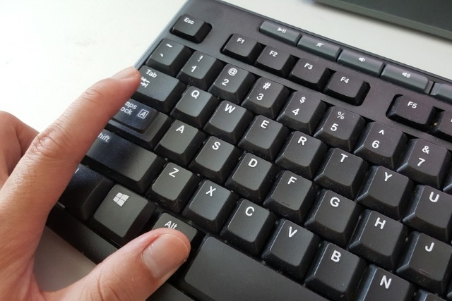 Pressing Alt-Tab on a keyboard