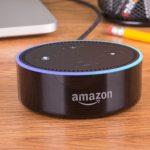 Amazon Echo Dot on a desk