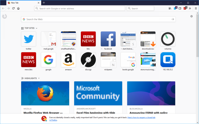 Mozilla: Enterprise IT pros can customize Firefox 60 for their employees
