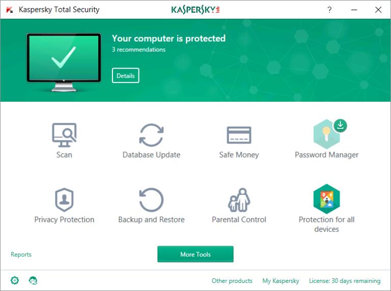 Resultado de imagen de Kaspersky Total Security 2019