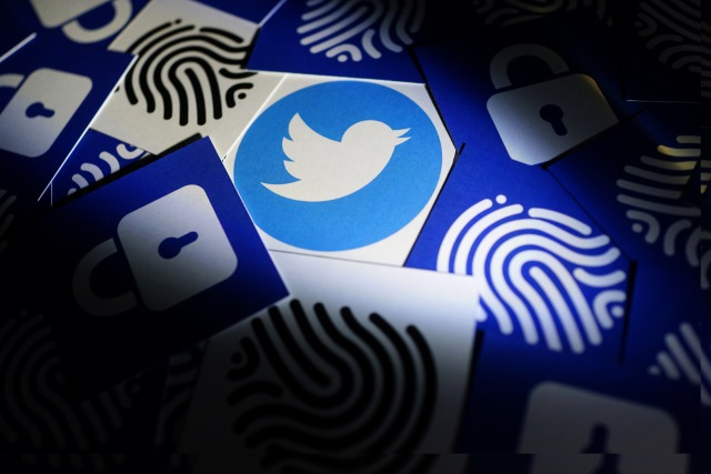 Twitter security logos and fingerprints