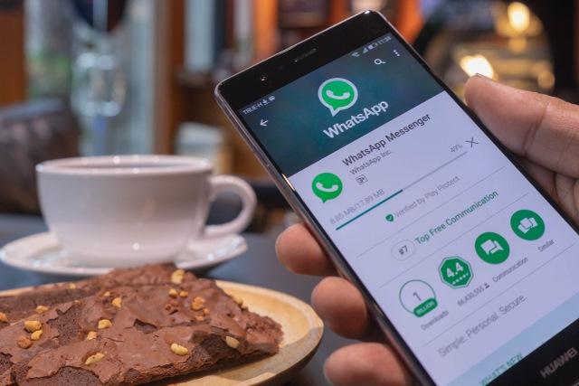 WhatsApp on smartphone