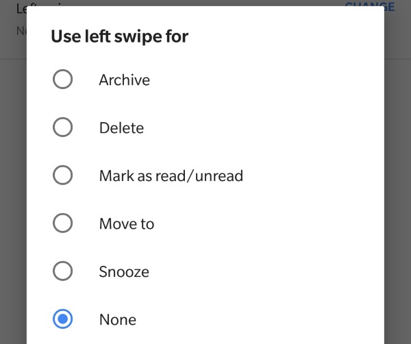 Android users can now customize Gmail swipe actions