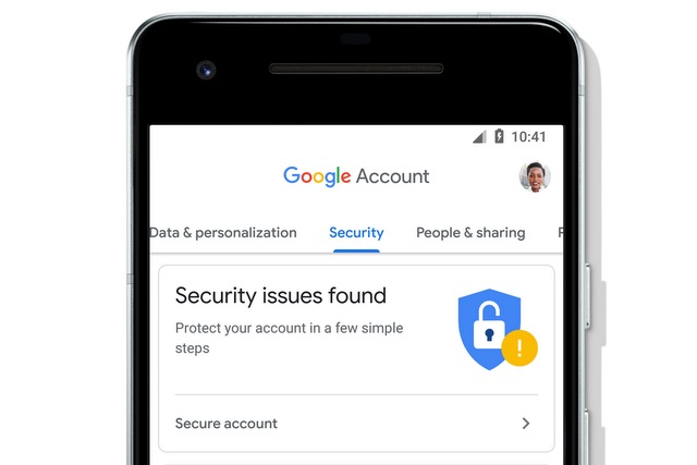 Google Account on mobile