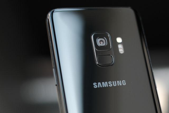 Samsung phone closeup