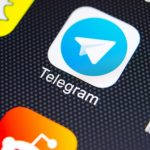 Telegram icon on iPhone X