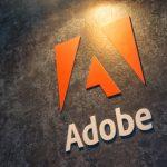Adobe logo on wall