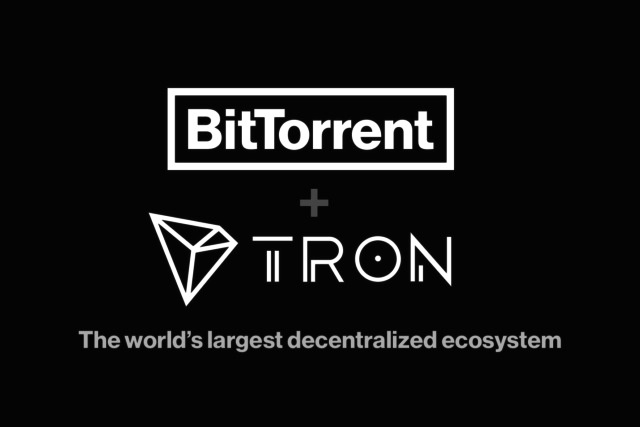 BitTorrent and TRON logos