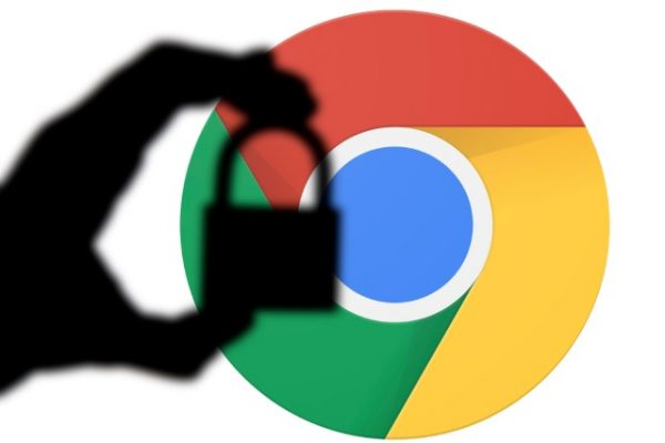 Chrome icon with a padlock
