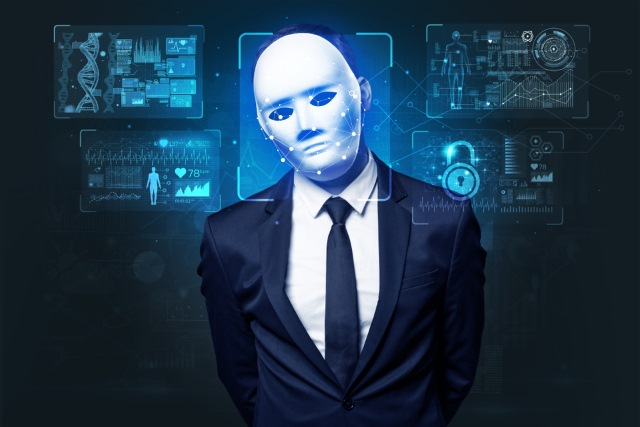 Facial recognition of mask