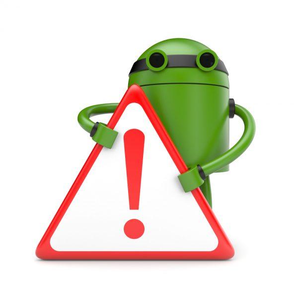 Android-Gefahrenzeichen