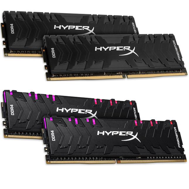 HyperX Predator DDR4 RAM kits get increased speeds and capacities