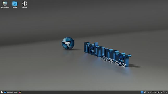 Netrunner Rolling 2018 08 Manjaro/Arch Linux-based KDE