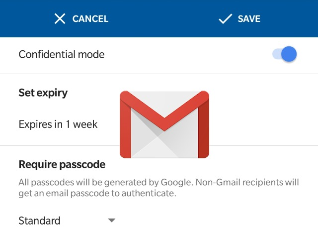 Gmail Confidential Mode on Android
