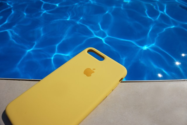 iPhone by pool