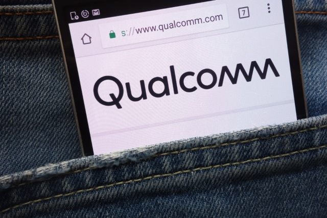 Qualcomm logo on smartphone