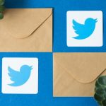 Twitter logo and envelopes