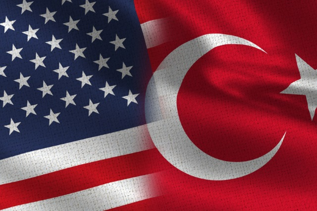 US and Turkish flags