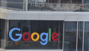 Google logo on office